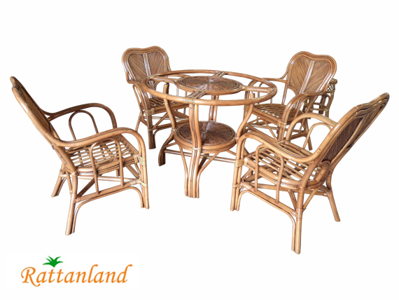 Venice Rattan Pole Dining Set